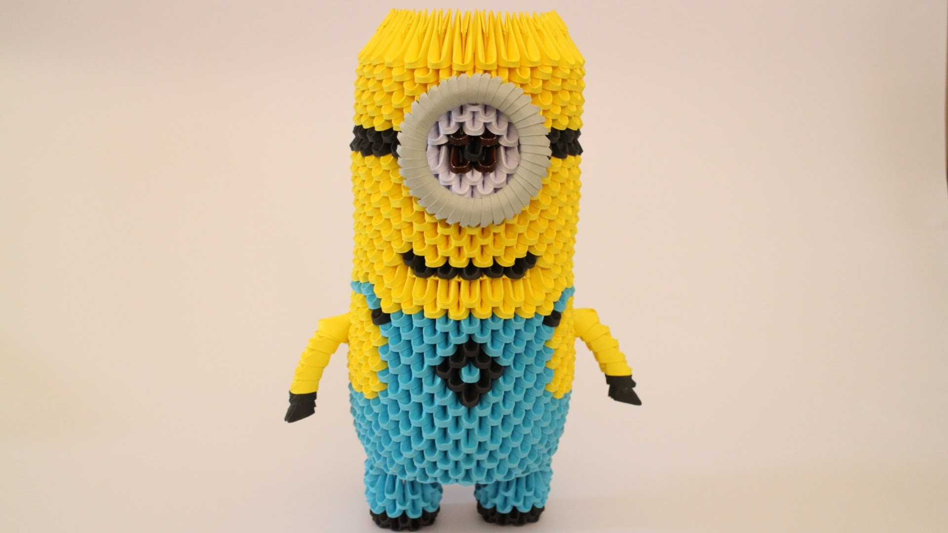 How To: 3D Origami Minion - Part 3