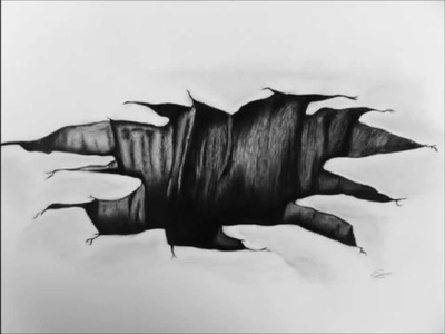 How to Draw 3D Hole with pencil