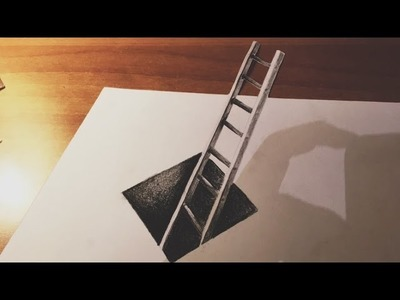 How to Draw 3D Ladder and Hole