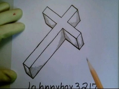 How To Draw A 3D Cross Crucifix Step By Step Easy For Beginners Kids Children
