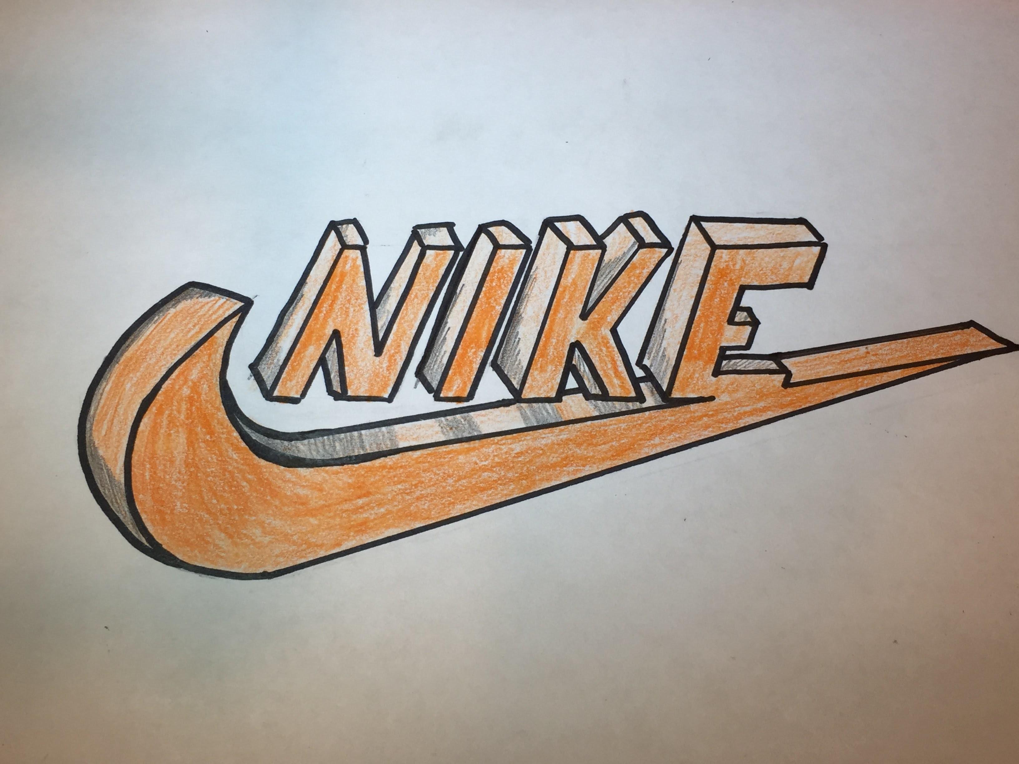 How To Draw A 3d Nike Logo Logo Drawing Part 4
