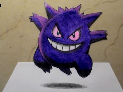 How To Draw Gengar Step By Step Drawing Pokémon 3D