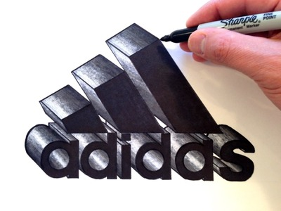 How to Draw the Adidas Logo in 3D - Best on Youtube
