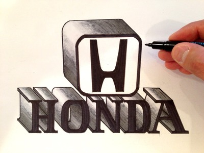 How to Draw the Honda Logo 3D