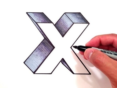 How to Draw the Letter X in 3D