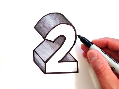 How to Draw the Number 2 in 3D