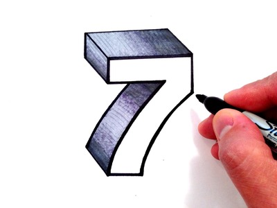 How to Draw the Number 7 in 3D