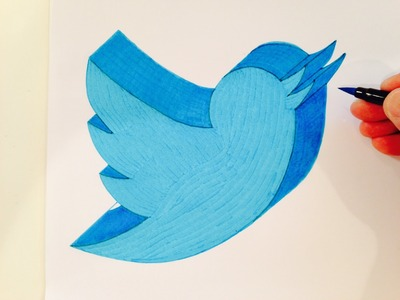 How to Draw the Twitter Logo in 3D