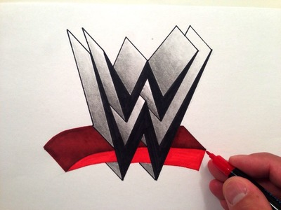 How to Draw the WWE Logo in 3D