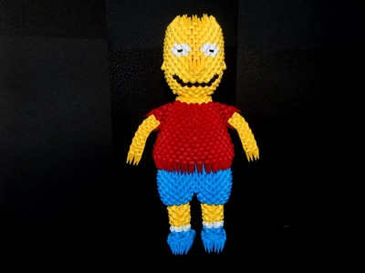 HOW TO MAKE 3D ORIGAMI  BART SIMPSON PART2