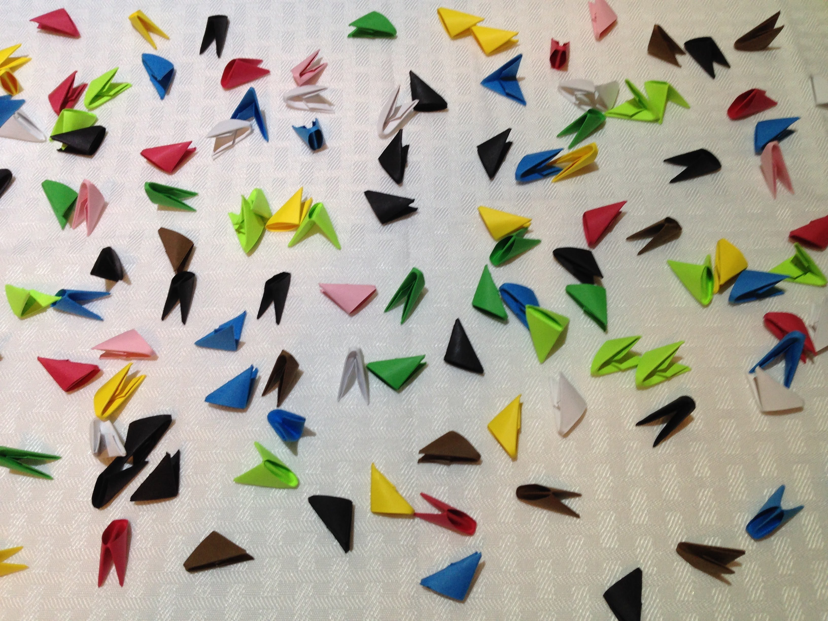 How to make 3D Origami triangles