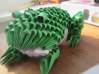 How to make  a 3D Origami Frog