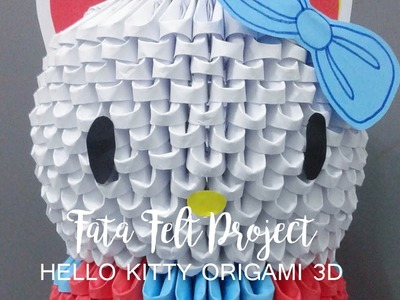How to Make Hello Kitty Origami 3D -fatafeltproject