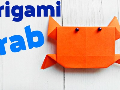 ORIGAMI crab cancer easy tutorial 3d instructions. Origami diagrams for children, for beginners