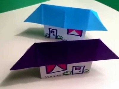 how to make an origami house 3d