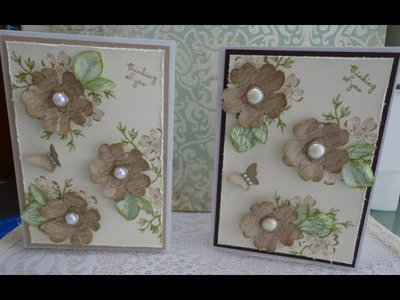 Pretty 3D Pansy punch card ~ with Stampin' up! supplies ~ Aus Tutorial