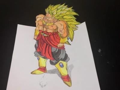 Speed Drawing - Broly (3D) - The Lengendary Super Saiyan!! - Dragon Ball Z - 2016