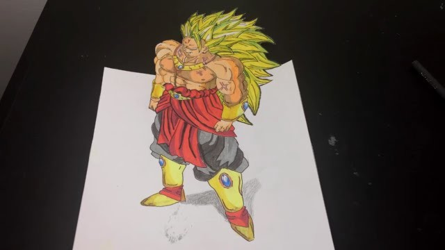 Speed Drawing Broly 3d The Lengendary Super Saiyan Dragon
