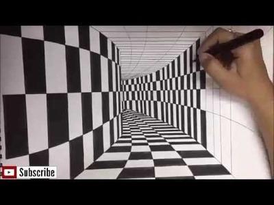 3D Art, Drawing Comment dessiner تعلم الرسم التلاتي الابعاد رسم بسيط ورائع