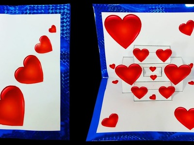 3D Love Heart POP UP card (Valentine's Day Card) : HD