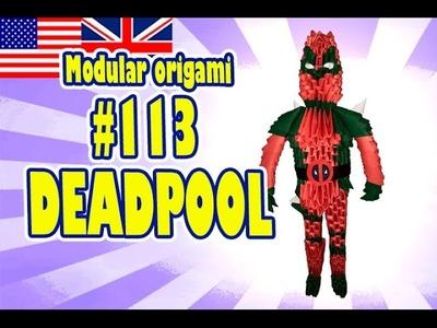 3D MODULAR ORIGAMI #113 DEADPOOL