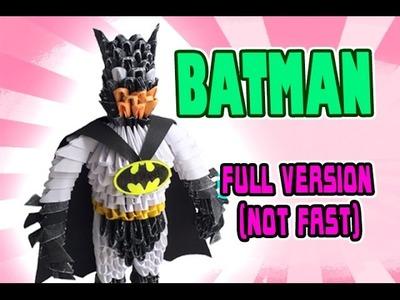 3D MODULAR ORIGAMI #114 BATMAN FULL VERSION (NOT FAST)