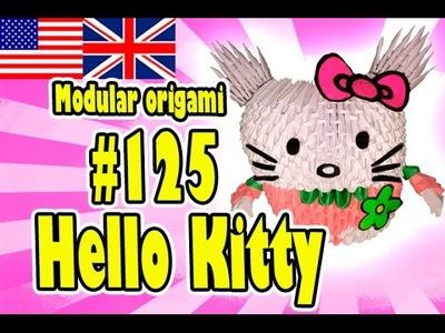 3D MODULAR ORIGAMI #125 HELLO KITTY