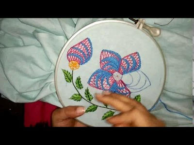 Hand embroidery- beautiful flower with just three simple stitch