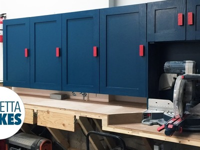 How to Build Workshop Cabinets. DIY Organization