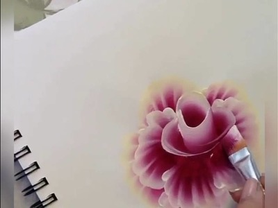 How to draw 3d flower.