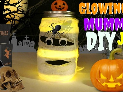 How To Make A Glowing Mummy In A Jar Do IT Yourself Halloween Craft diy