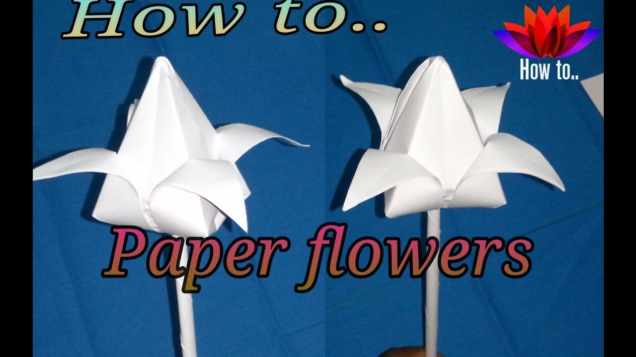 How To Make A Very Simple Paper Flower Flowers Healthy