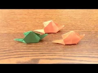 how to make snail with paper
