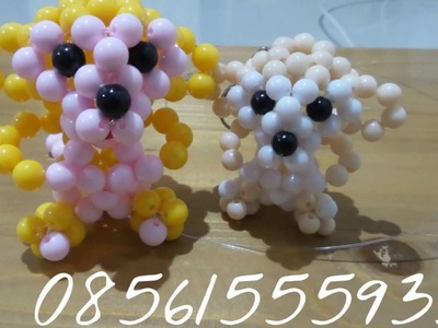 Monyet beads manik. How To Made Beaded Tutorial. Bead Craft