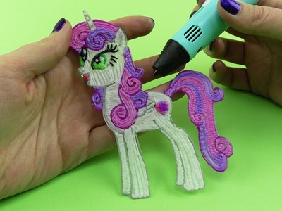 My Little Pony How to Draw Sweetie Belle Alicorn with 3D PEN! Coloring Video for Kids