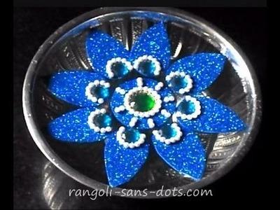 Rearrangeable kundan floating rangoli | foam sheet craft | Diwali special craft
