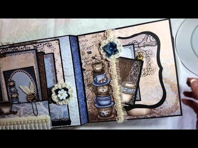 *SOLD* Coffee Talk 8x8 Mini Album for Country Craft Creations