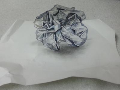Trick art - a twist of paper