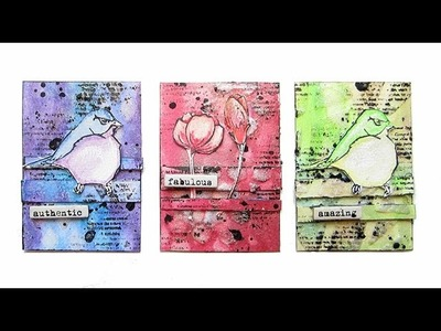 Water-color ATC's with Faber-Castell Design Memory Craft