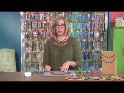 Beads, Baubles and Jewels' host Katie Hacker designs with colorful stones (2511-1)