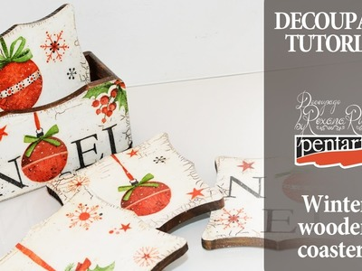Decoupage Tutorial Diy Decoupage coasters diy christmas gift