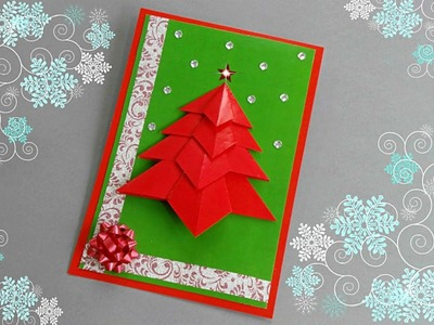 DIY CHRISTMAS CARD (tutorial). CHRISTMAS CRAFTS. DIY CARD.