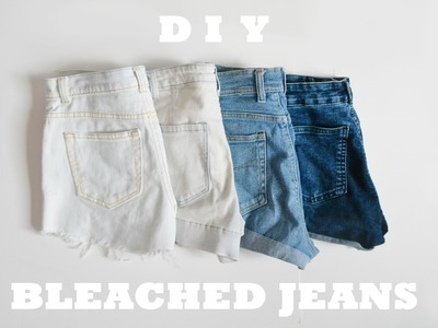 ♥ DIY ♥ Easy bleached distressed jean shorts