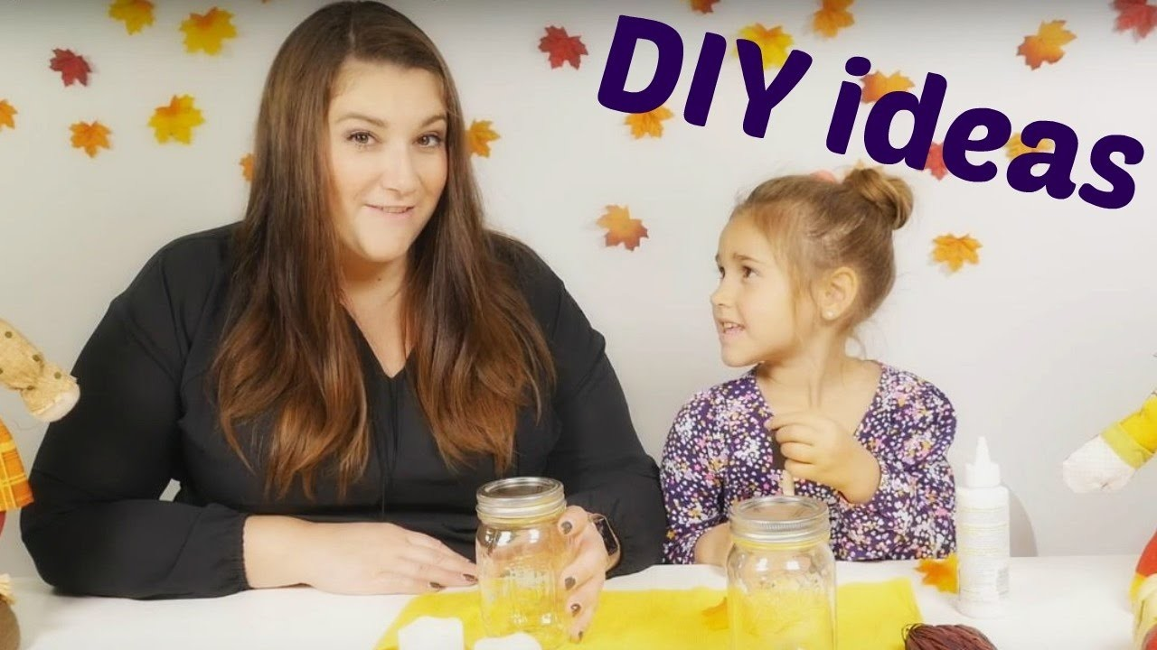 DIY for kids and crafts ideas. Toys and videos for kids. Luminaries for Thanksgiving.
