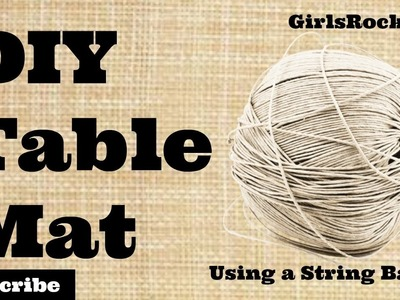 DIY Table Mats   GirlsRock DIY