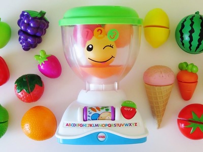 Fisher-Price mix n learn blender toy video learn colors numbers names of fruits vegetables