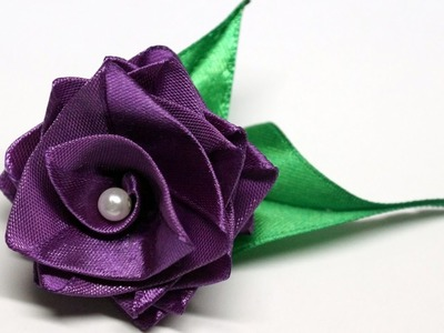 Flower making. Easy flowers making with satin ribbon. Rose tutorial. Julia DIY beauty and easy