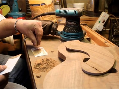 Guitar builders basics 9 - making a wood filler with dust and glue