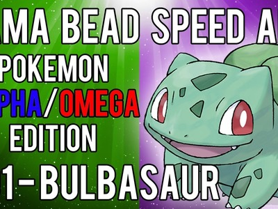 Hama Bead Speed Art | Pokemon | Alpha.Omega | Timelapse | 001 - Bulbasaur
