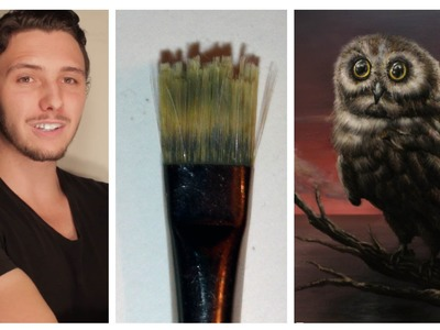 How To Cut Your Brush To Paint Multiple Strokes For Grass, Fur, OR HAIR